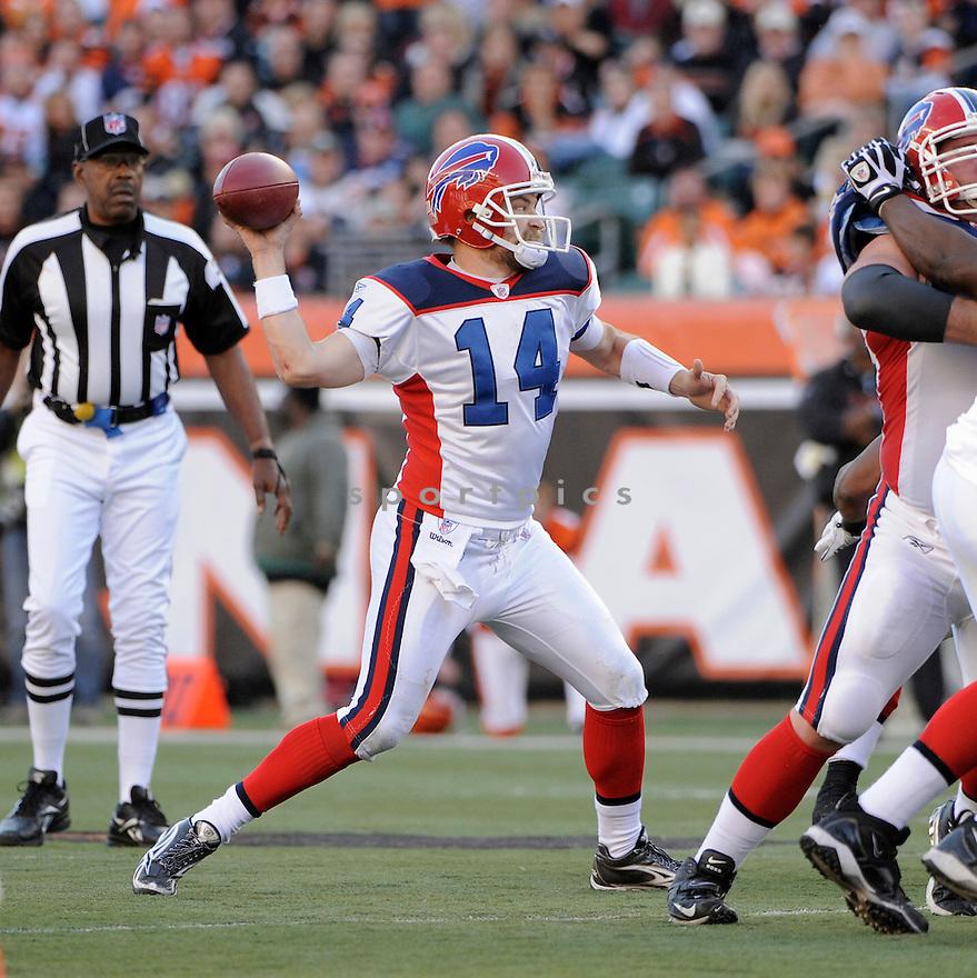 RYAN FITZPATRICK, of the Buffalo Bills in action durIng the Bills game against the Cincinnati Bengals at Paul Brown Stadium in CIncinnati, OH, on November 21, 2010...Bills beat the Bengals 49-31.