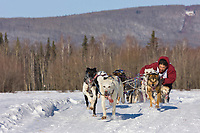 Curtis Erhart races in the 2008 Open North American Championship sled dog race, third heat, March 16, 2008.