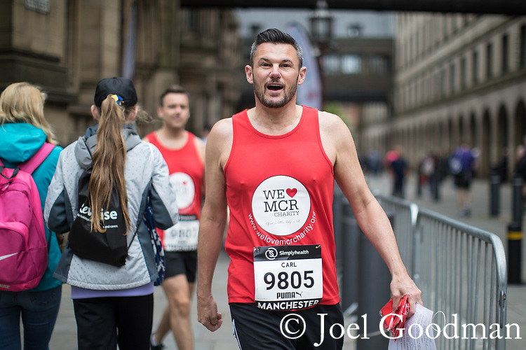 © Joel Goodman - 07973 332324 . 28/05/2017 . Manchester , UK . Former Lord Mayor , CARL AUSTIN-BEHAN . The Great Manchester Run 2017 . Security is still heightened in Manchester following a murderous bomb attack at an Ariana Grande gig at Manchester Arena on Monday 22nd May . Photo credit : Joel Goodman