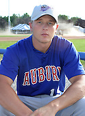 July 19, 2003:  Pitcher Justin James of the Auburn Doubledays, Class-A affiliate of the Toronto Blue Jays, during a game at Dwyer Stadium in Batavia, NY.  Photo by:  Mike Janes/Four Seam Images