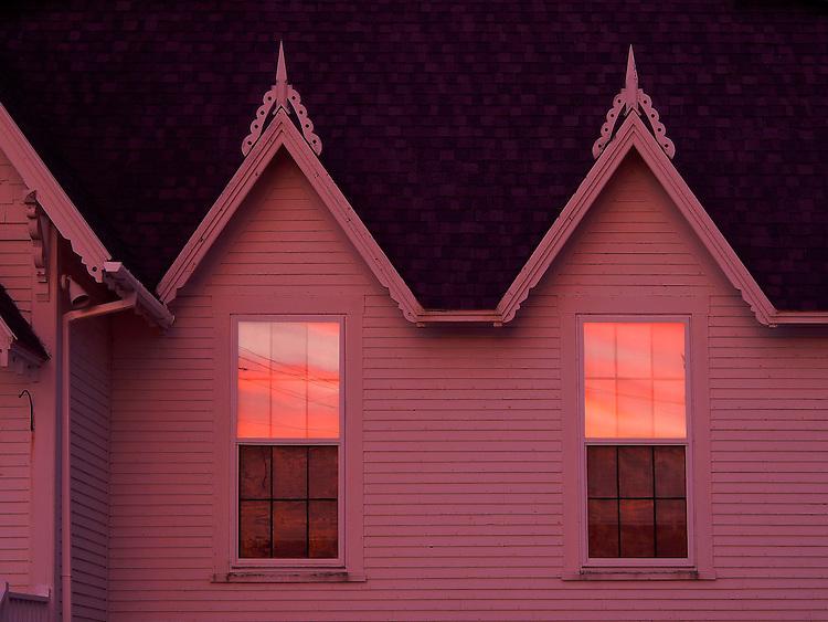 Americana.<br /> <br /> Church at sunrise, Bass Harbor, Maine.