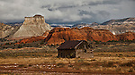 A lone cabin in southwestern Utah in the late fall.