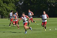 SAO PAULO, 04 DE MARCO DE 2013 - TREINO SAO PAULO - Jogadores do Sao Paulo durante treino no CT da Barra Funda, regiao oeste da capital, na tarde desta segunda feira, 04. (FOTO: ALEXANDRE MOREIRA / BRAZIL PHOTO PRESS)