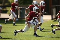 9 April 2007: T.C. Ostrander during spring practice in Stanford, CA.