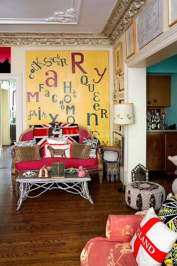 kitschy living room