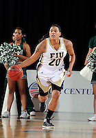 Florida International University guard/forward Sabina Salas (20) plays against Stetson University in the first round of the NIT.  FIU won the game 75-47 on March 15, 2012 at Miami, Florida. .