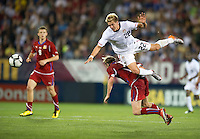 USA's Stuart Holden collides with a Czech Republic player during an international friendly tune up match for the 2012 World Cup, in Hartford, CT, 05/25/10. The Czech Republic defeated the USA 4-2.