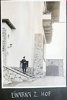 BNPS.co.uk (01202 558833)<br /> Pic: Jones&Jacob/BNPS<br /> <br /> Entance to the Berghof - The Fuhrers home in Berchtesgaden - The LSSAH were tasked with its protection.<br /> <br /> Springtime for Hitler...Chilling album of pictures taken by one of Hitlers bodyguards illustrates the Nazi dictators rise to power.<br /> <br /> An unseen album of photographs taken by a member of Hitlers own elite SS bodyguard division in the years leading up to the start of WW2.<br /> <br /> The 1st SS Panzer Division 'Leibstandarte SS Adolf Hitler' or LSSAH began as Adolf Hitler's personal bodyguard in the 1920's responsible for guarding the Führer's 'person, offices, and residences'.