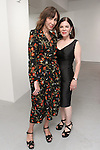 Fashion designer Barbara TFank (right) poses with guest at her Barbara TFank Spring Summer 2016 collection presentation, in the Leila Heller Gallery during New York Fashion Week Spring Summer 2017, on September 12, 2016.