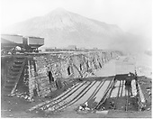 Crested Butte coke ovens, larry cars and D&amp;RG box car on adjacent siding.<br /> D&amp;RG  Crested Butte, CO  Taken by Beam, George L. - ca. 1910