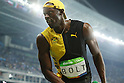 Usain Bolt (JAM), <br /> AUGUST 14, 2016 - Athletics : <br /> Men's 100m Final <br /> at Olympic Stadium <br /> during the Rio 2016 Olympic Games in Rio de Janeiro, Brazil. <br /> (Photo by YUTAKA/AFLO SPORT)
