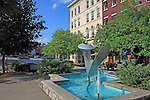 Fountain in downtown Bangor, Maine