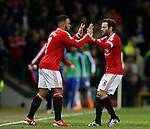 Memphis Depay of Manchester United replaces Juan Mata of Manchester United - English Premier League - Manchester Utd vs Chelsea - Old Trafford Stadium - Manchester - England - 28th December 2015 - Picture Simon Bellis/Sportimage