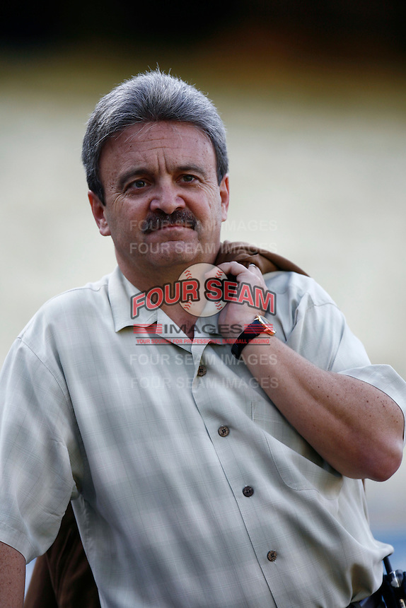 Los Angeles Dodgers General Manager Ned Colletti during a 2007 MLB season game at Dodger Stadium in Los Angeles, California. (Larry Goren/Four Seam Images)