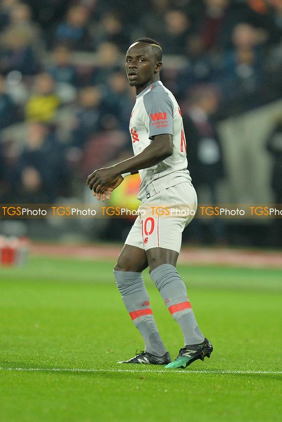 Sadio Mane of Liverpoolduring West Ham United vs Liverpool, Premier League Football at The London Stadium on 4th February 2019