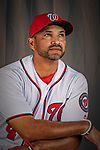 22 February 2019: Washington Nationals Manager Dave Martinez poses for his Photo Day portrait at the Ballpark of the Palm Beaches in West Palm Beach, Florida. Mandatory Credit: Ed Wolfstein Photo *** RAW (NEF) Image File Available ***