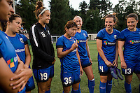 Seattle, Washington - Saturday, July 2nd, 2016: Seattle Reign FC forward Nahomi Kawasumi (36) after a regular season National Women's Soccer League (NWSL) match between the Seattle Reign FC and the Boston Breakers at Memorial Stadium. Seattle won 2-0.