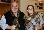 WATERBURY CT. 08 February 2018-020818SV06-From left, Gary Schiro of Goshen and Molly Nelson-Regan of New Haven attend The Mattatuck Museum's 5th Annual Beer Fest in Waterbury Thursday.<br /> Steven Valenti Republican-American