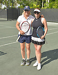 WESTON, FL - DECEMBER 08: Martina Navratilova, former Czechoslovak and American professional tennis player and coach and Elizabeth Signore playing at Midtown Athletic Club Weston on December 08, 2018 in Weston, Florida. ( Photo by Johnny Louis / jlnphotography.com )