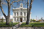 Historic Mono County Courthouse, built in 1880 and one of the oldest courthouses in use in California, Bridgeport, Calif.