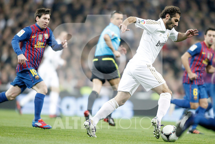 Real Madrid's Hamit Altintop during King's Cup Match. January 18, 2012. (ALTERPHOTOS/Alvaro Hernandez)