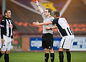 Stand in referee Douglas Ross makes his first controversial decision ...