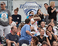 Breakers spectators at a National Women's Soccer League Elite (NWSL) match where Sky Blue FC defeated the Boston Breakers, 3-2 at Dilboy Stadium on June 16, 2013
