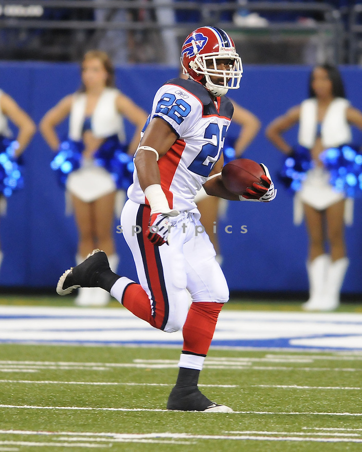 FRED JACKSON, of the Buffalo Bills, in action during the  Bills game against the Indianapolis Colts on August 24, 2008 in Indianapolis, Indiana...The Buffalo Bills win 20-7.