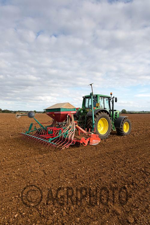Drilling Winter Barley in Rutland<br /> Picture Tim Scrivener 07850 303986