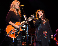 HOLLYWOOD FL - NOVEMBER 4 :  Nancy Wilson and Ann Wilson of Heart perform at Hard Rock live held at the Seminole Hard Rock hotel &amp; Casino on November 4, 2012 in Hollywood, Florida.  Credit: mpi04/MediaPunch Inc. .<br />