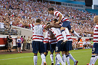 May 26, 2012:   USA Men's National Team celebrates a goal during action between the USA and Scotland at EverBank Field in Jacksonville, Florida.  USA defeated Scotland 5-1.............