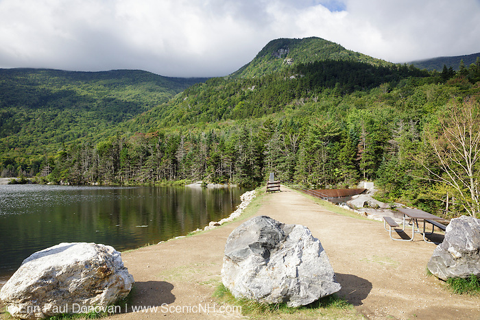 Mount Blue from Beaver Pond in Kinsman Notch of the White Mountains, New Hampshire USA during the summer months. This area was part of the Gordon Pond Railroad era, which was a logging railroad in operation from 1907 - 1916 +/-