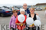 Grainne Courtney, Margaret Kelly (Farranfore), Elaine and Mike Courtney (Castleisland) supporting the Maurice McCrohan Memorial Balloon Fundraiser in Ballyheigue on Monday, for the Kerry Palliative Care Unit.