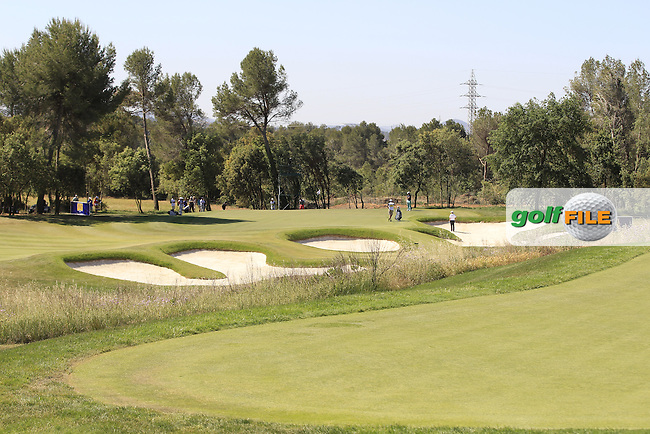 A view from the 3rd tee during Round 2 of the Open de Espana  in Club de Golf el Prat, Barcelona on Friday 15th May 2015.<br /> Picture:  Thos Caffrey / www.golffile.ie