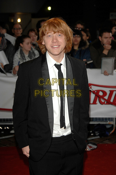 RUPERT GRINT.National Movie Awards, Royal Festival Hall.28th September 2007 London, England.half length black suit jacket hands in pockets .CAP/PL.©Phil Loftus/Capital Pictures