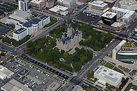 aerial photograph Salt Lake City and County Building, Washington Square, Supreme Court, Salt Lake City, Utah