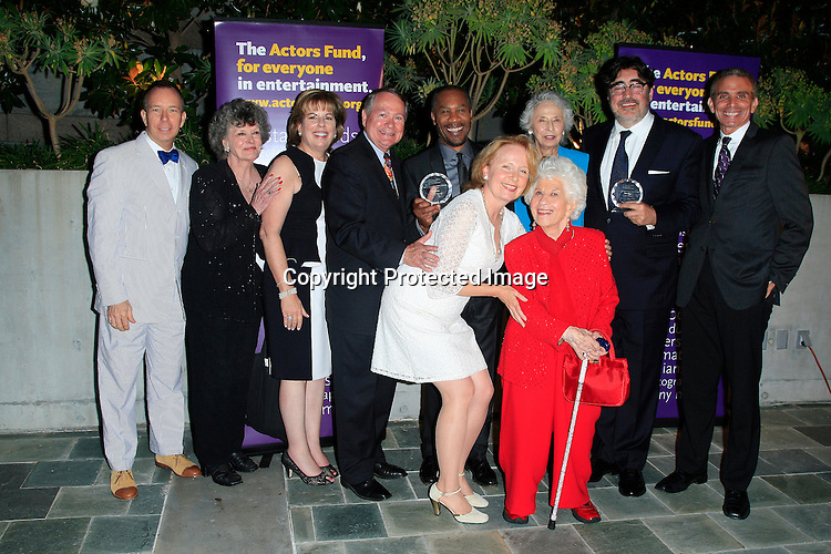 LOS ANGELES - JUN 7: Joe Morton, Alfred Molina, Kate Burton, Charlotte Rae, Western Council at the Actors Fund's 19th Annual Tony Awards Viewing Party at the Skirball Cultural Center on June 7, 2015 in Los Angeles, CA