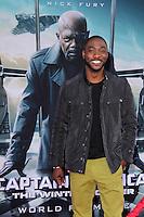 "B.J. Britt<br /> at the ""Captain America: The Winter Soldier"" Los Angeles Premiere, El Capitan, Hollywood, CA 03-13-14<br /> David Edwards/DailyCeleb.com 818-249-4998"