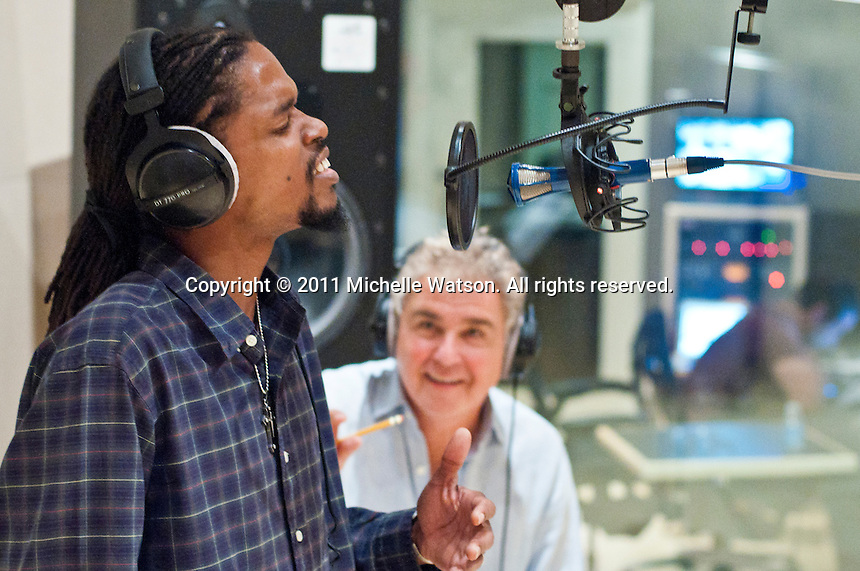 America's  Got Talent winner Landau Eugene Murphy, Jr. records his first CD at Wire Road Studios in Houston, Texas with producer Steve Tyrell
