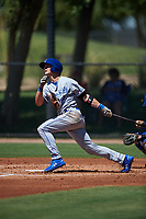 AZL Royals Bobby Witt Jr. (17) at bat during an Arizona League game against the AZL Dodgers Lasorda on July 4, 2019 at Camelback Ranch in Glendale, Arizona. The AZL Royals defeated the AZL Dodgers Lasorda 4-1. (Zachary Lucy/Four Seam Images)