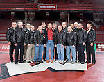 MADISON, WI - JANUARY 19: Alumni wrestlers from the Wisconsin Badgers wrestling team pose after the meet against the Penn State Nittany Lions at the Field House on January 19, 2007 in Madison, Wisconsin. The Badgers beat the Nittany Lions 17-16. (Photo by David Stluka)