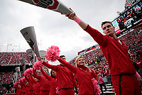 Ohio State Buckeyes cheerleaders perform during the second quarter of a NCAA college football game between the Ohio State Buckeyes and the Minnesota Golden Gophers on Saturday, October 13, 2018 at Ohio Stadium in Columbus, Ohio. [Joshua A. Bickel/Dispatch]