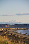 Puget Sound, Whidbey Island, Mount Baker, from Port Townsend, Fort Worden State Park, Washington State, Pacific Northwest, USA,