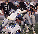 Los Angeles Raiders Ted Hendricks (83), in action during a game against the Seattle Seahawks . Ted Hendricks was inducted to the Pro Football Hall of Fame in 1990.