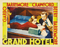Grand Hotel (1932)<br /> Lobby card with Joan Crawford &amp; Wallace Beery<br /> *Filmstill - Editorial Use Only*<br /> CAP/MFS<br /> Image supplied by Capital Pictures