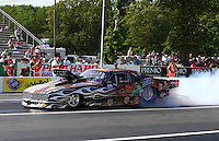 May 31, 2013; Englishtown, NJ, USA: NHRA pro mod driver Mike Knowles during qualifying for the Summer Nationals at Raceway Park. Mandatory Credit: Mark J. Rebilas-