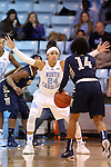 02 January 2015: North Carolina's Jessica Washington (24) guards ETSU's Tianna Tarter (14). The University of North Carolina Tar Heels hosted the East Tennessee State University Buccaneers at Carmichael Arena in Chapel Hill, North Carolina in a 2014-15 NCAA Division I Women's Basketball game. UNC won the game 95-62.