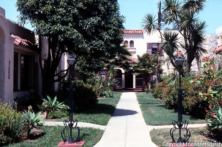 "San Diego: ""La Do Ena"" Court, 3538-3572 1/2 Fifth Avenue.  Photo '87."