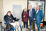 Unveiling the plaque to name Christie Hennessy place in Tralee on Saturday were Mayor Terry O'Brien the wife of Christie Hennessy Gill Ross, Frank Hartnett and Cllr. Sammy Locke