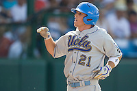 UCLA's Chris Giovinazzo in Game 11 of the NCAA Division One Men's College World Series on June 25th, 2010 at Johnny Rosenblatt Stadium in Omaha, Nebraska.  (Photo by Andrew Woolley / Four Seam Images)